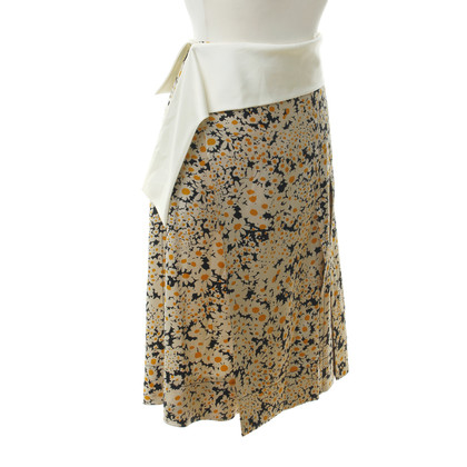 Céline Silk skirt with floral print