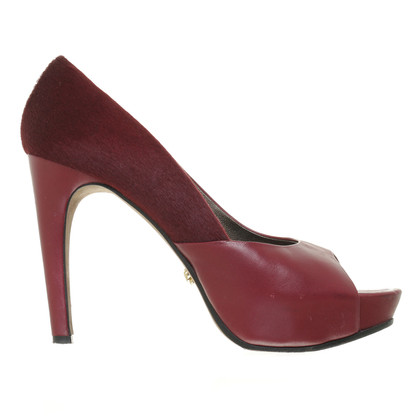 Navyboot Peep-toes in Bordeaux Red