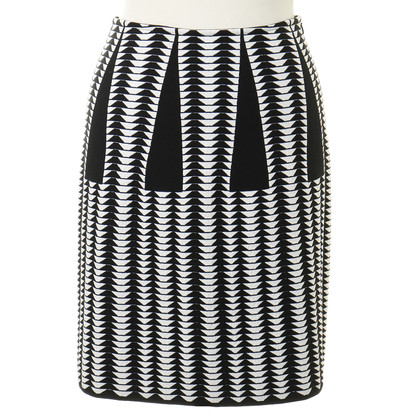 Alaïa skirt with graphic patterns