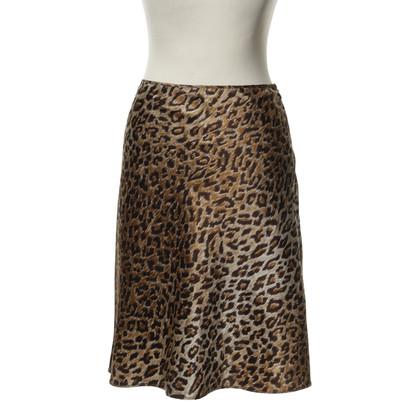 D&G Satin skirt with Leo print
