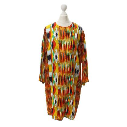 Céline Shift-Kleid mit Ikat Print