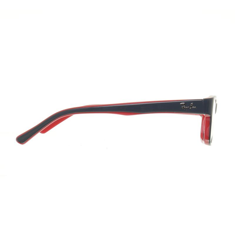 ray ban brille schwarz weiß rot