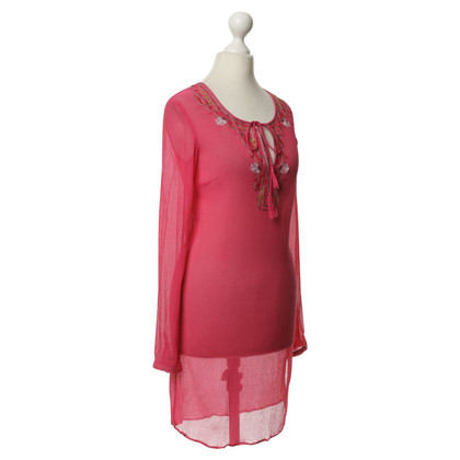 Style Butler Pink blouse with ornamental embroidery