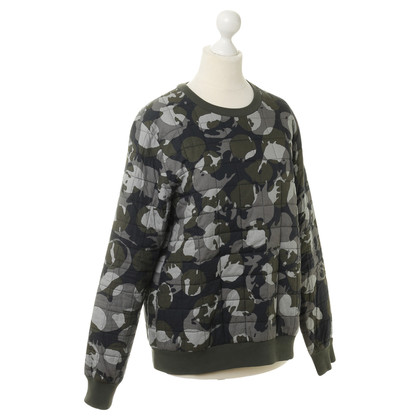 MSGM  Sweater with camouflage patterns