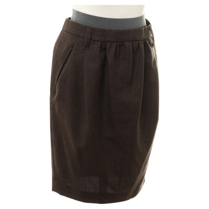 Brunello Cucinelli Wol rok in Brown