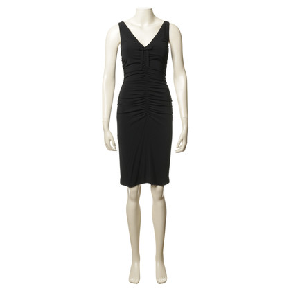 Paule Ka Shirred Dress in black
