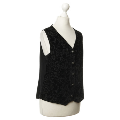 Faith Connexion Vest with velvet print