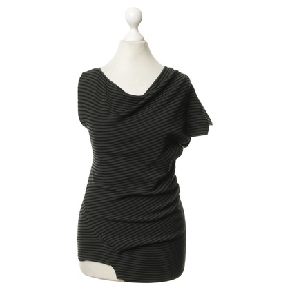 Roland Mouret Asymmetrical top with stripes