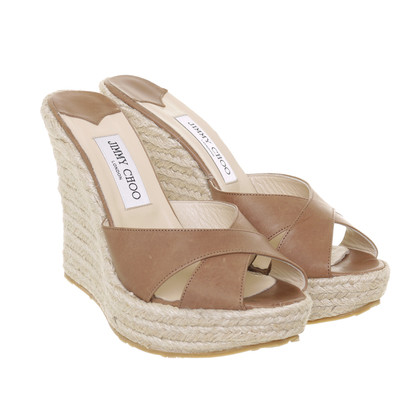 Jimmy Choo Wig sandalen in de Materialmix