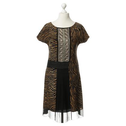 Alberta Ferretti zijden jurk met animal print