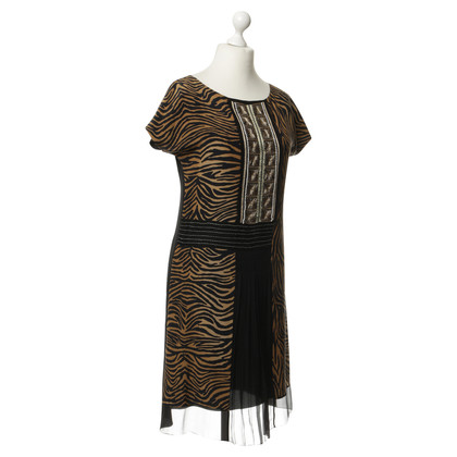 Alberta Ferretti Animal-print silk dress