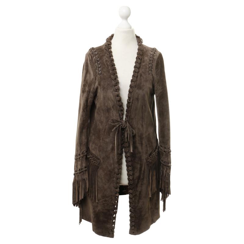 marc cain suede fringe jacket buy second hand marc cain. Black Bedroom Furniture Sets. Home Design Ideas