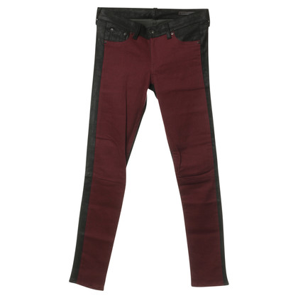 Rag & Bone Jeans with leather trim