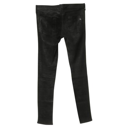 Rag & Bone Jeans mit Leder-Besatz