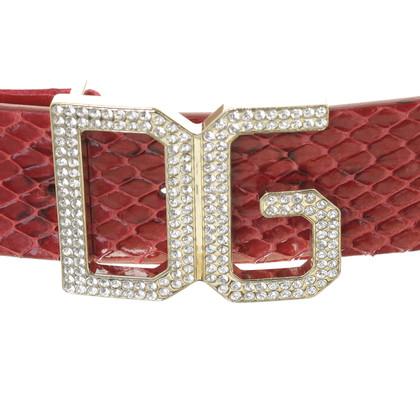 Dolce & Gabbana Cintura in pelle di rettile