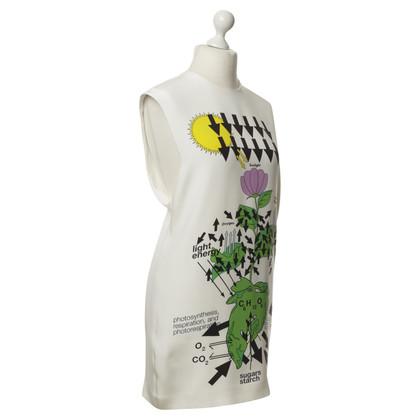 Christopher Kane Robe en soie avec motif de fleur