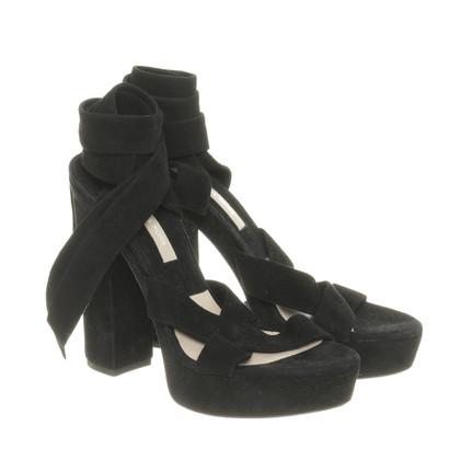Michael Kors Suede sandalen met plateau