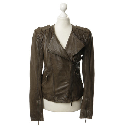 Plein Sud Leather jacket in green