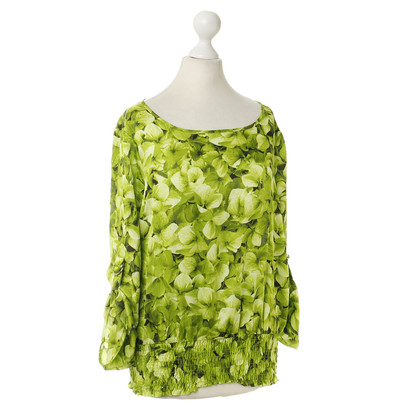 Michael Kors Green blouse with flower pattern