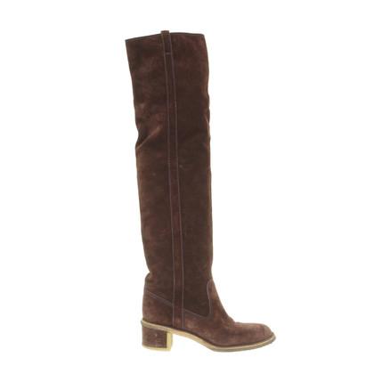 Chanel Overknees brown suede