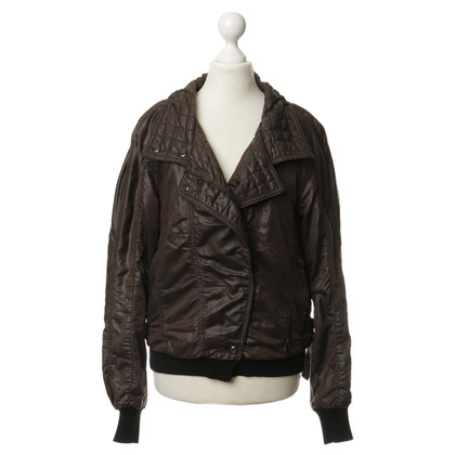 Marc Cain Quilted Blouson in Brown