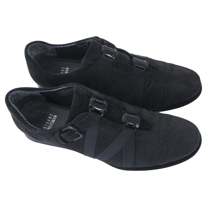 stuart weitzman sneaker in schwarz second hand stuart weitzman sneaker in schwarz gebraucht. Black Bedroom Furniture Sets. Home Design Ideas