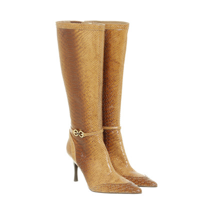 Escada Stiefel in Reptilien-Optik