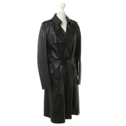 Chloé Long trench coat in black leather
