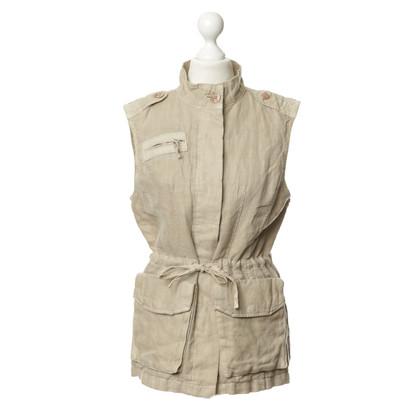 Closed Vest gemaakt van linnen