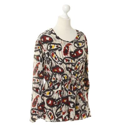 Isabel Marant Etoile Zijde blouse met patronen