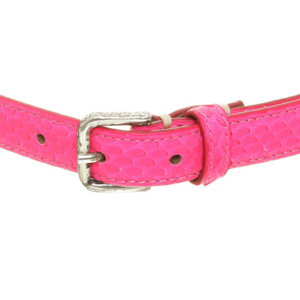Fausto Colato Belts in neon pink