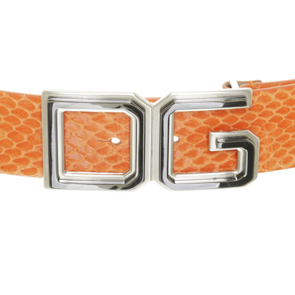 Dolce & Gabbana Reptile leather belt