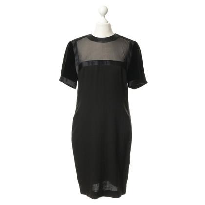 Rena Lange Schede jurk met fluweel en lint