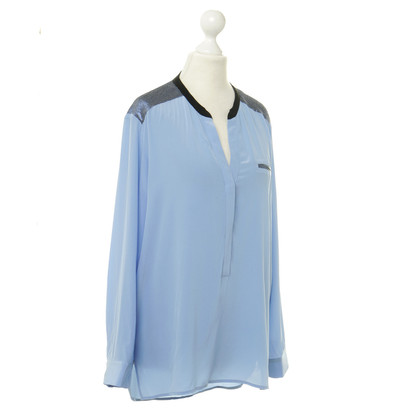 Sandro Wide blouse in pale blue