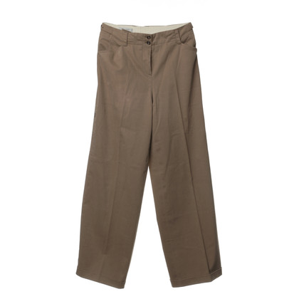 René Lezard Cotton Trousers in a dark beige