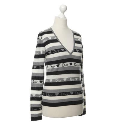 Christian Dior Pullover mit Streifen