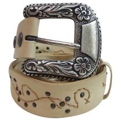 Reptile's House Cintura con borchie e ricami