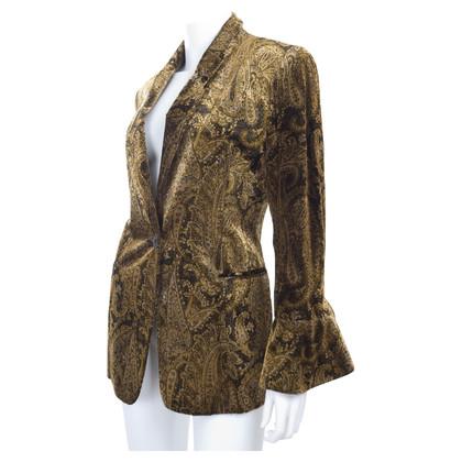 Ferre Vintage puncture velvet jacket