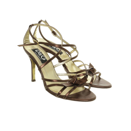 D&G Sandals in metallic-look