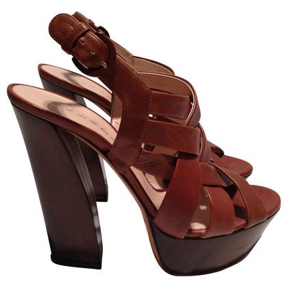 Casadei Platform high heel sandal with braided patterns