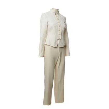 Armani Collezioni Off-white pants suit