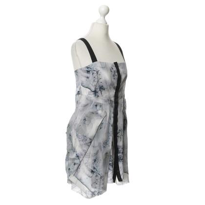Alexander McQueen Seidenkleid mit Muster