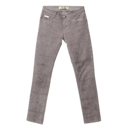 Blumarine Pantaloni con rivestimento in velluto