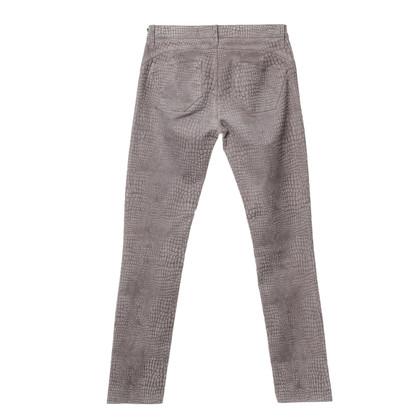 Blumarine Trousers with velvet coating