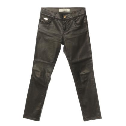 Blumarine Pantalone marrone scuro con vernice lucida
