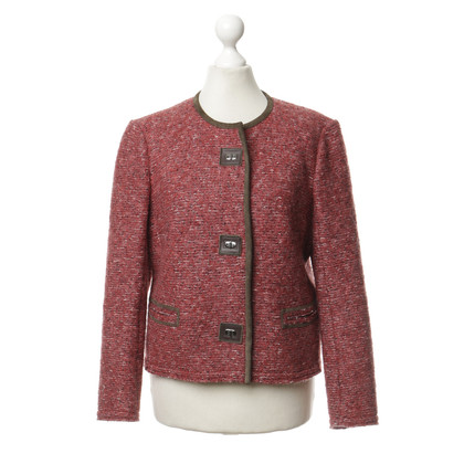 Isabel Marant Red Jacket with leather piping