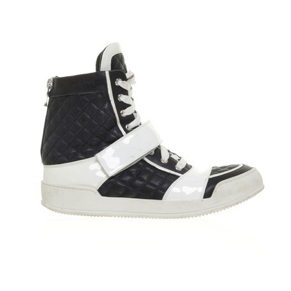 Balmain High-top sneaker in blue and white