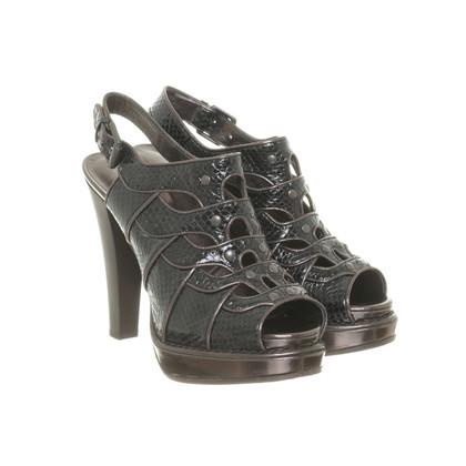 Bottega Veneta Platform sandalen in metalen-zwart