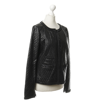 Marc Cain Quilted Jacket with lamb nappa