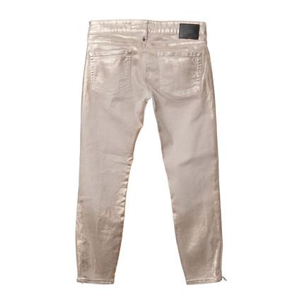 Drykorn Jeans met metalen coating